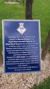 The Mersey Division memorial plaque